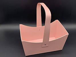Коробки для цветов. Цвет розовый. 12х20см
