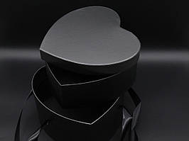Коробки для цветов двойное дно. Цвет черный. 23х16см