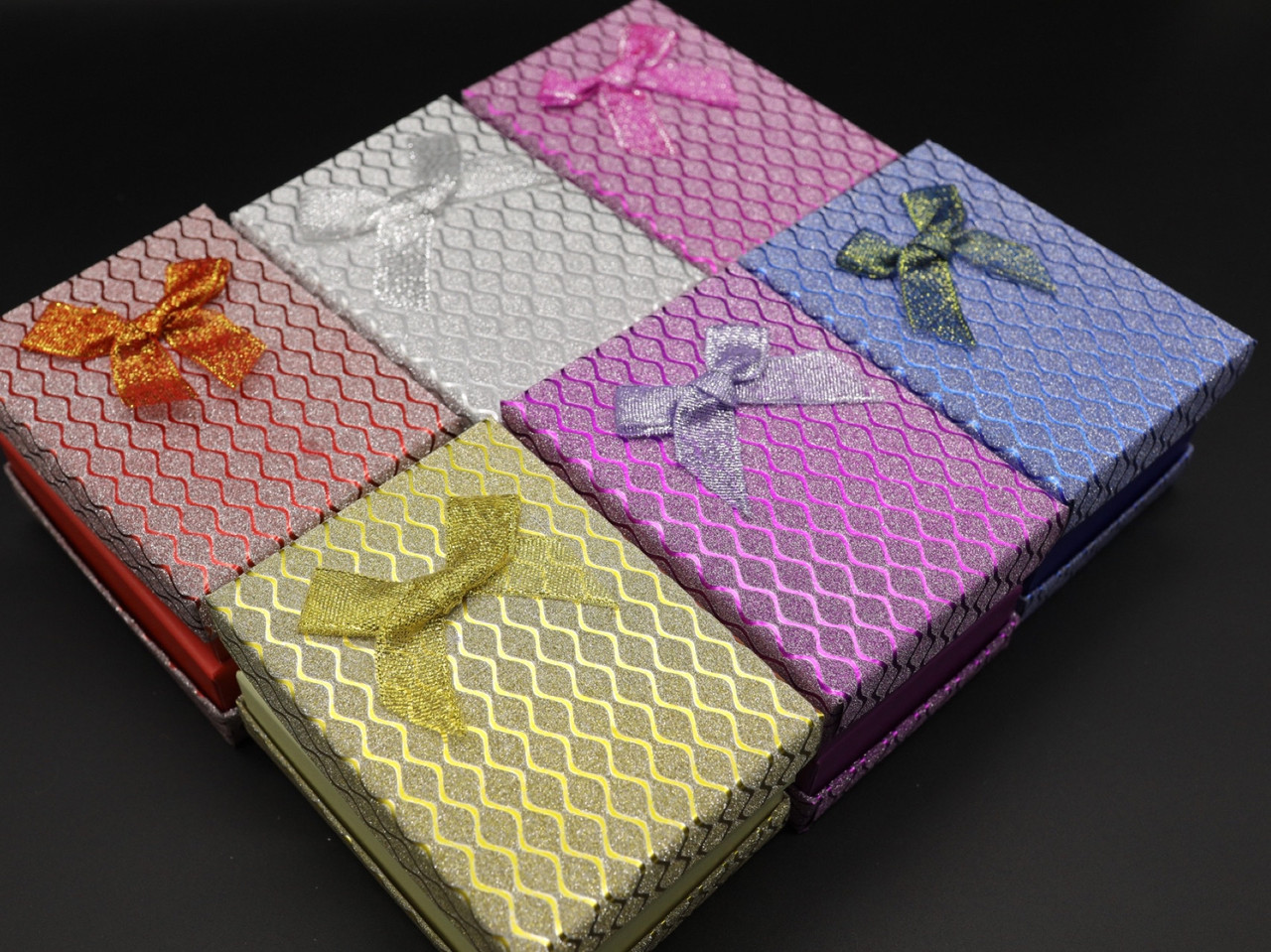 Коробки подарункові з бантиком. 8х11см