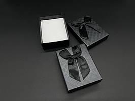 Коробки подарочные с бантиком. Цвет черный. 7х9см
