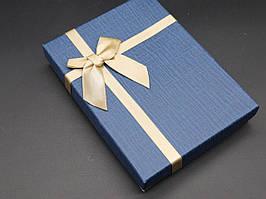 Коробки подарочные с бантиком. Цвет синий. 12х16х3см