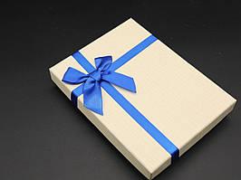 Коробки подарочные с бантиком. Цвет бежевый. 12х16х3см