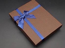 Коробки подарочные с бантиком. Цвет коричневый. 12х16х3см