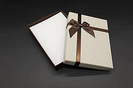 Коробки подарочные с бантиком. Цвет серый. 12х16х3см