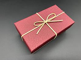 Коробка подарочная, прямоугольная. Цвет бордо. 9х15х6см.