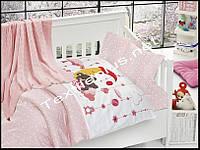 Постельное белье детское с вязаным покрывалам First Choice бамбук Sleeper pembe