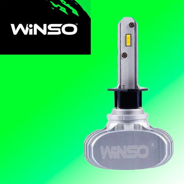LED лампы для автомобиля H1 WINSO 12-24В, 50Вт, 6000K, 4000Лм (2шт.)