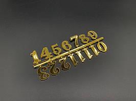 Цифры для часов. Цвет золото. 2см