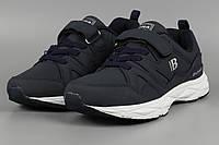Кросівки дитячі шкіряні сині Bona 847H-11 Бона Розміри 31 32 33 34 35 36, фото 1