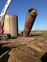 Перенос резервуаров стальных объемом от 100 до 5000 куб. м с гарантией 5 лет и устройством фундамента 5600 грн