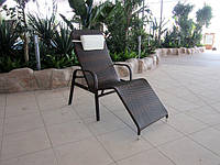 Шезлонг СВИНГ Модерн, Лежак, мебель для бассейна, мебель для сада, мебель плетеная