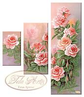 """Рисунок на ткани для вышивания бисером """"Розовый сад"""""""