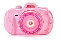 Детский фотоаппарат для мыльных пузырей BUBBLE CAMERA Pink (14758) GL