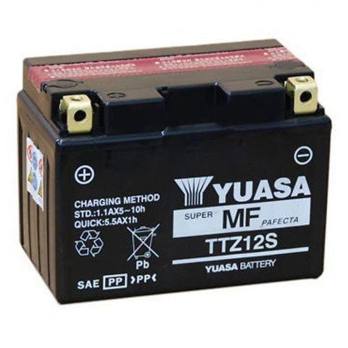 Мото Акумулятор Yuasa 12V 11.6Ah MF VRLA Battery AGM TTZ12S (сухозаряджений) (+/-)