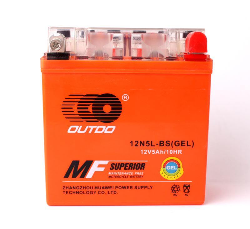 Мото акумулятор OUTDO 5Ah 12N5L-BS (GEL)