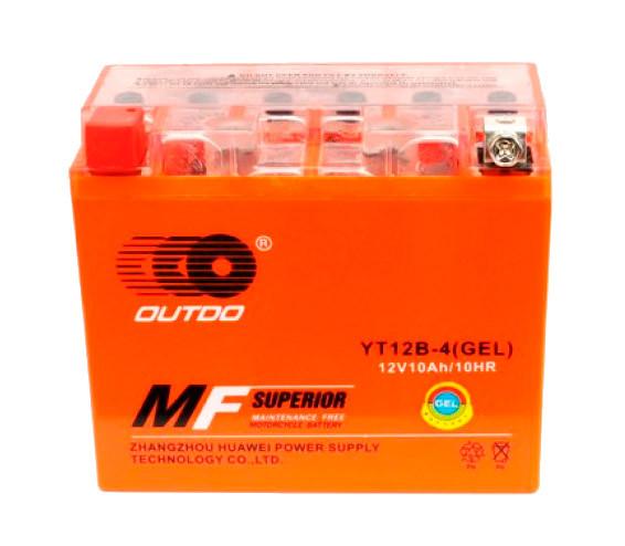 Мото акумулятор Outdo 10Ah YT-12B-4 (GEL)