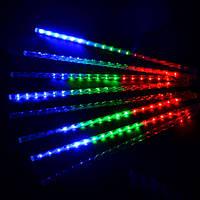 Гирлянда Тающие сосульки LED 50см 8шт, разноцветные ск2