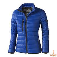 Лёгкий пуховик на молнии, куртка стёганная Elevate Scotia Lady размер L, оранжевая, синяя, чёрная