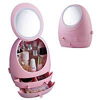 Органайзер для косметики с зеркалом Розовый, W-5 ск2