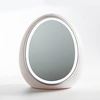 """Органайзер для косметики с LED зеркалом """"Яйцо""""(Белый)(W-26) ск2"""