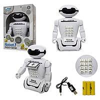 """Детский сейф-копилка """"Сейф-Робот"""" 6688-8 с кодовым замком и ночником, 10 мелодий ск2"""
