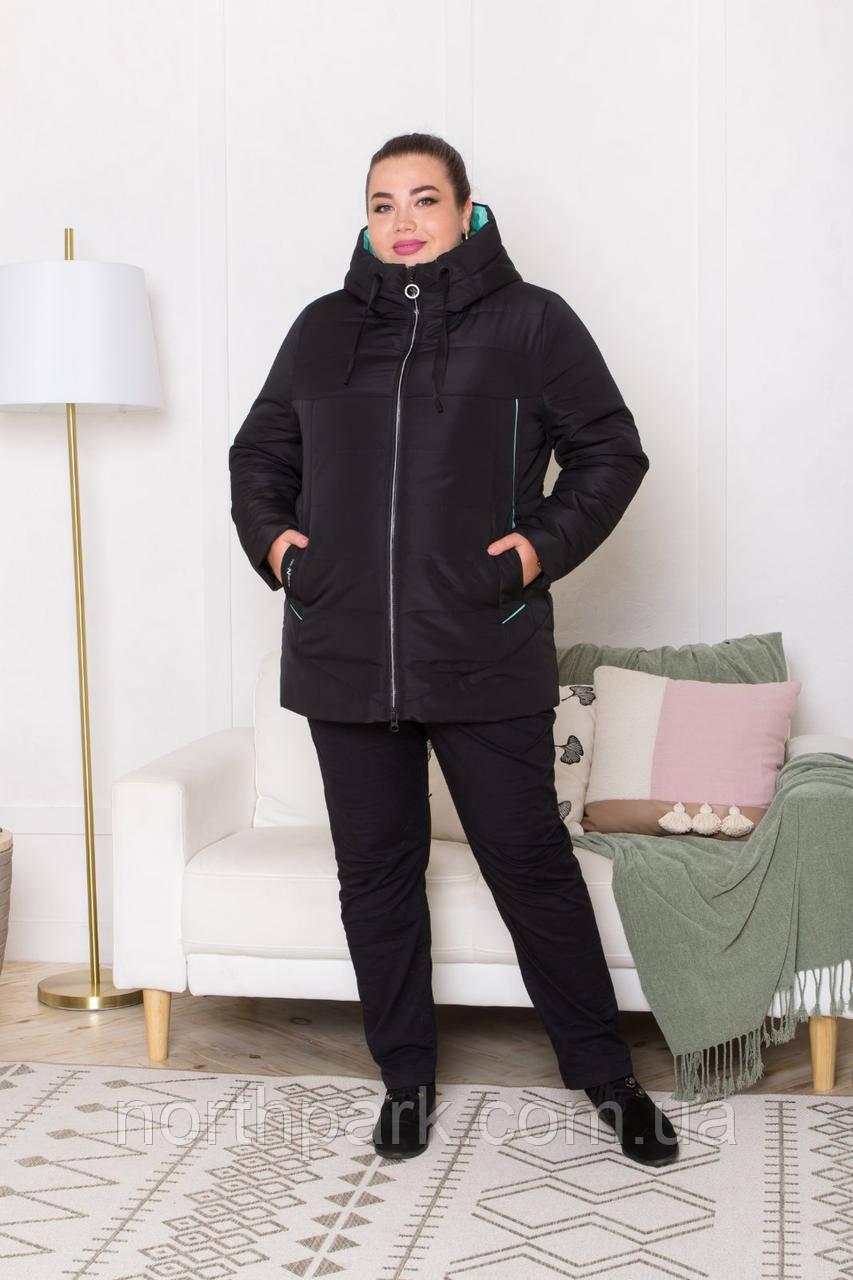 Жіноча універсальна демісезонна куртка Дн-6, чорна