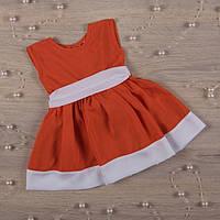 """Плаття BetiS """"Кароліна"""" Оранжевий Штапель 27075499 Зріст 68, фото 1"""