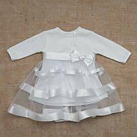 """Плаття BetiS """"Маленька Леді"""" д. р. Білий Інтерлок 27069753 Зріст 80"""