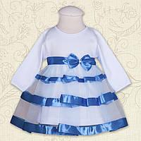 """Плаття BetiS """"Маленька Леді """" д.р. Блакитний Інтерлок 27071697 Зріст 74"""