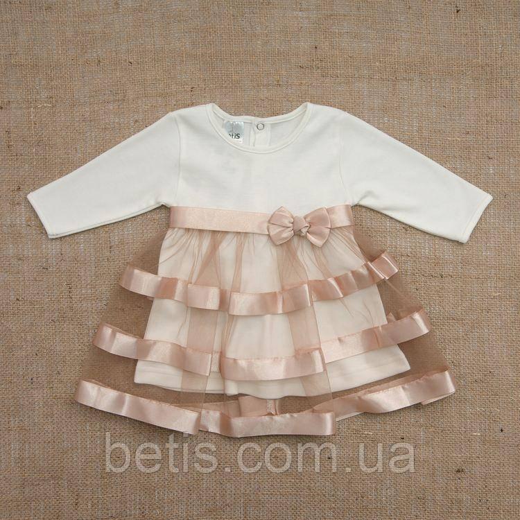 """Плаття BetiS """"Маленька Леді"""" д. р. Кавовий Інтерлок 27071734 Зріст 80"""