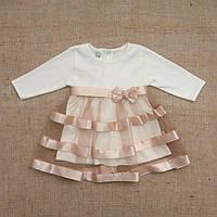 """Плаття BetiS """"Маленька Леді"""" д. р. Кавовий Інтерлок 27071734 Зріст 80, фото 1"""