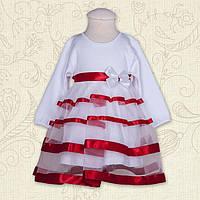 """Плаття BetiS """"Маленька Леді """" д.р. Червоний Інтерлок 27070389 Зріст 80"""