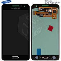 Дисплейный модуль (дисплей + сенсор) для Samsung Galaxy A3 A300F / A300FU / A300H, черный, оригинал