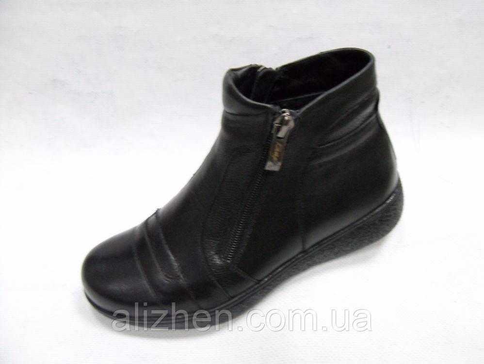Демисезонные кожаные детские подростковые ботинки для мальчика тм Каприз Украина, размеры 32,34