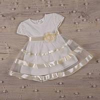 """Плаття BetiS """"Маленька Леді """" к.р. Молочний Кулір 27070299 Зріст 80, фото 1"""