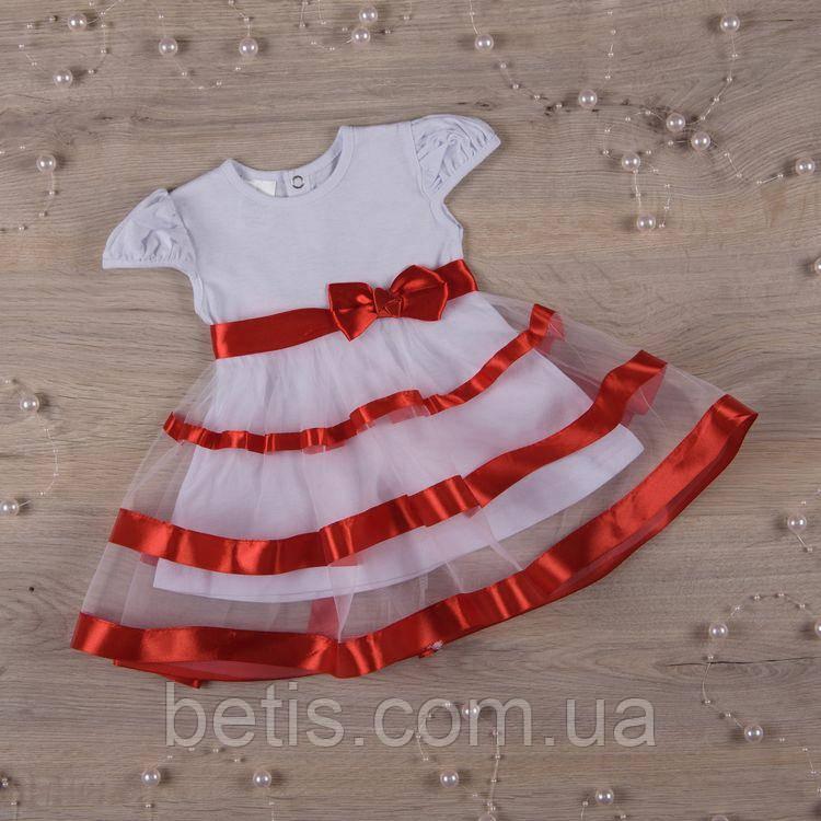 """Плаття BetiS """"Маленька Леді """" к.р. Червоний Кулір 27070301 Зріст 56"""