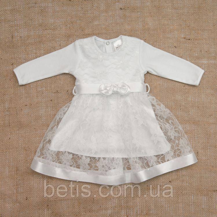 """Плаття BetiS """"Мрія"""" д. р. Білий Інтерлок,гіпюр 27076507 Зріст 56"""