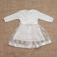 """Плаття BetiS """"Мрія"""" д. р. Білий Інтерлок,гіпюр 27076507 Зріст 56, фото 1"""