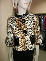 Жакет леопардовый под мех пони