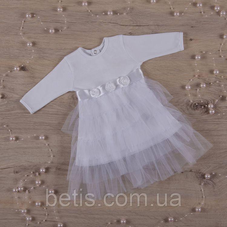 """Плаття BetiS """"Ніжність"""" д. р. Білий Інтерлок 27071010 Зріст 56"""