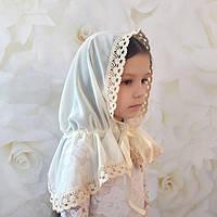 """Палантин BetiS """"Чарівний янгол"""" для дітей Молочний Шифон 27682551 60*90 см"""
