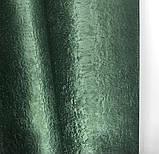 Комплект готових штор на тасьмі блекаут софт 150х270 ( 2шт ) з тюлем 400х270. Колір Зелений, фото 6
