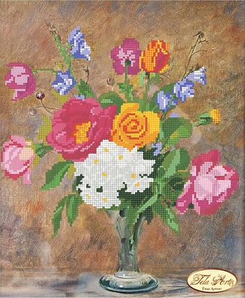 """Рисунок на ткани для вышивания бисером """"Розы и Колокольчики"""", фото 2"""