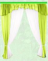 Комплект штор Тина, салатовая кухонные