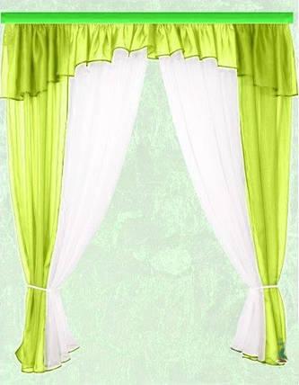 Комплект штор Тина, салатовая кухонные, фото 2