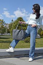 """Стильная сумка """"Ashley New"""" - №12 DARK GREY - цвет  темно-серый"""