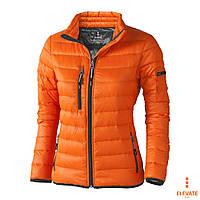 Куртка-пуховик женская на молнии от ТМ Elevate стёганная, спортивная, размер XL, оранжевая, синяя, чёрная