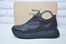 Жіночі демісезонні черевики на платформі натуральна шкіра Dino Vittorio