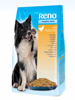 Reno Рено сухой корм для собак со вкусом птицы 10 кг