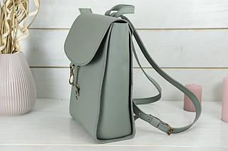 Жіночий шкіряний рюкзак Венеція, розмір середній, натуральна шкіра Grand колір Сірий, фото 3